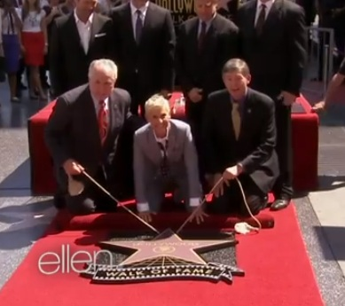 Ellen Gets a Star on the Walk of Fame