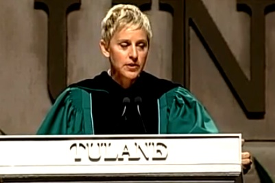 Ellen's Commencement Speech at Tulane