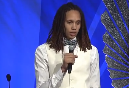 Brittney Griner speaks about coming out at the #GLAADAwards