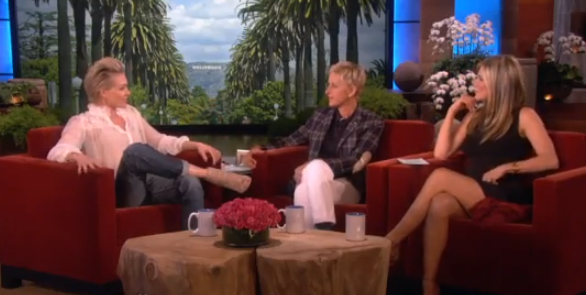 The Ellen Show - Jennifer Aniston Finds Out About Ellen and Portia's Marriage