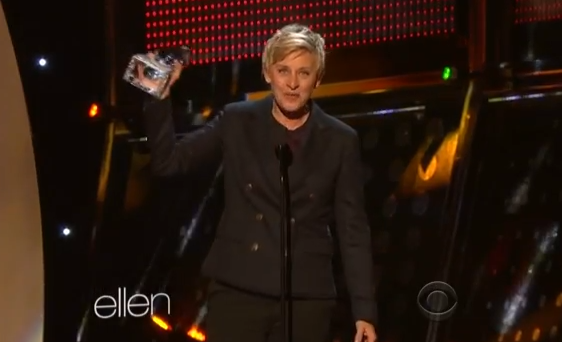 Ellen Won the People's Choice Award!