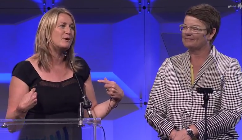 Kris Perry and Sandy Stier honored at the #glaadgala in SF
