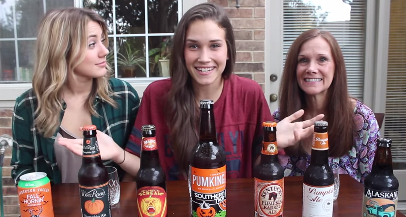 Shannon & Cammie - Pumpkin Spiked Beer Test