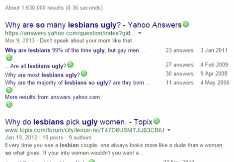 Why Are Lesbians So Ugly?