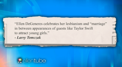 Ellen takes on homophobic pastor and celebrates her lesbianism