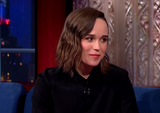 The Late Show with Stephen Colbert - Ellen Page Talks