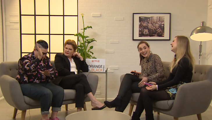 Rose and Rosie interview Lea Delaria & Kate Mulgrew from Orange Is The New Block