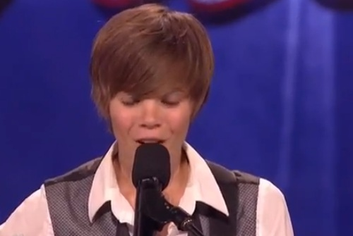 Dani Shay - America's Got Talent - 1st Audition - NOT Justin Bieber