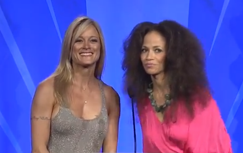 The Fosters' Terri Polo and Sherri Saum at the #glaadawards