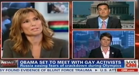Rea Carey on CNN discussing Russia's Anti LGBT laws