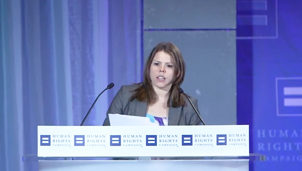 Caitlin Cahow Speaks at the 2014 HRC Equality Convention