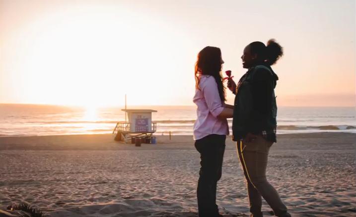 Holly and Danielle - Beach Proposal